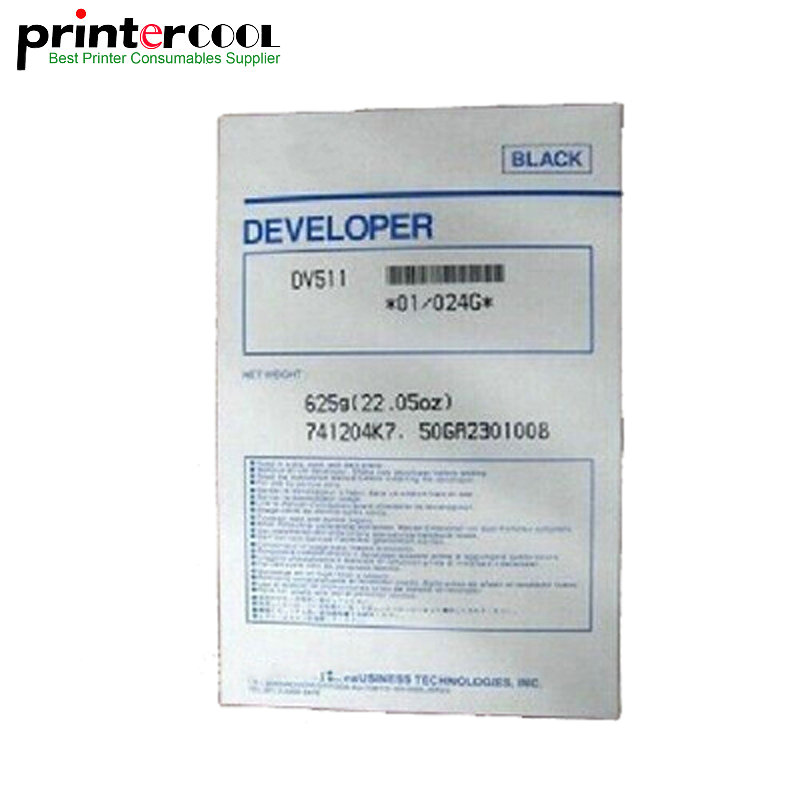 625g Compatible DV511 Developer For Minolta BH420 421 500 501 7145 Copier Parts 1pcs compatible developer for minolta 7020 7022 7030 7130 7025 copier parts