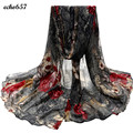 Woman Scarf Luxury Brand Unisex Fashion Design Flower Womens Voile Stole Printed Scarves Long Neck Wraps Shawl Scarf J 20
