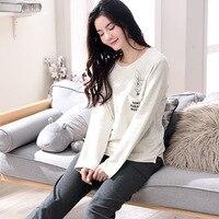 100% Cotton Pajamas Women Sleepwear Women Pyjama Femme Night Suit Pajama Sets Women 1393