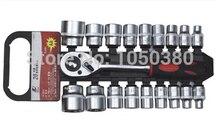 S 20pcs Drive 1 2 12 5mm Dr Socket set with quick release ratchet Combination Auto