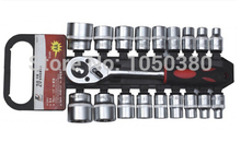 S 20pcs Drive 1/2″ 12.5mm Dr Socket set with quick release ratchet Combination Auto/Automotive/vehicles/car Repair   Hand Tool