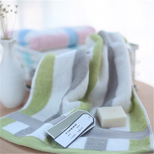 SBB 35*75cm 100% cotton face Towel soft 32 strands of Color collision striped towel  facecloth Wholesale gift