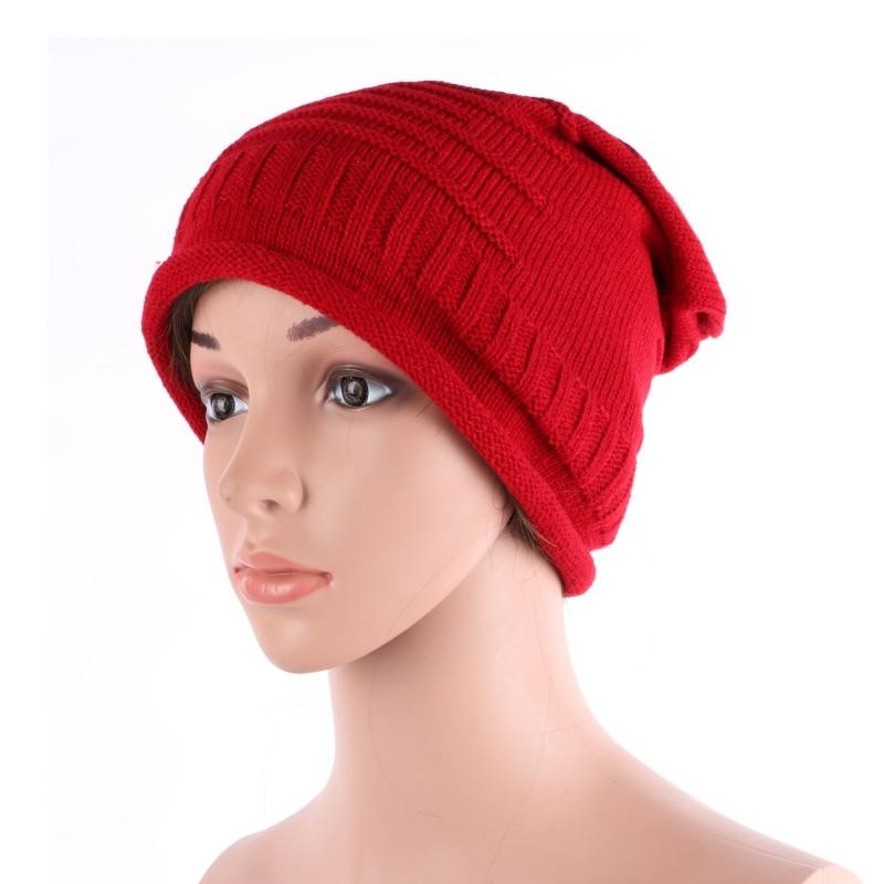 Brand Men Women Cap Winter Warm Knitted Beanie Crochet Baggy Hat Beret 2017 winter women beanie skullies men hiphop hats knitted hat baggy crochet cap bonnets femme en laine homme gorros de lana