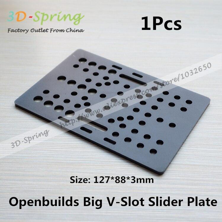 1Pcs Openbuilds Slider Gantry Plate Big 127*88*3mm Aluminum Alloy CNC Special Slider Plate For 3D Printer 1pcs openbuilds motor mount plate for nema 17 82 39 5 3mm aluminum alloy cnc special fixing plate for 3d printer