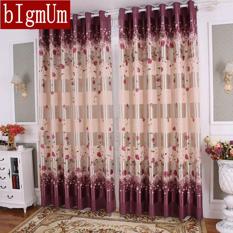 Aliexpress.com : Buy BIgmUm Blackout Curtain High Grade Printed Rose  Curtains For Living Dining Room Bedroom European Simple Design Curtains  From Reliable ...