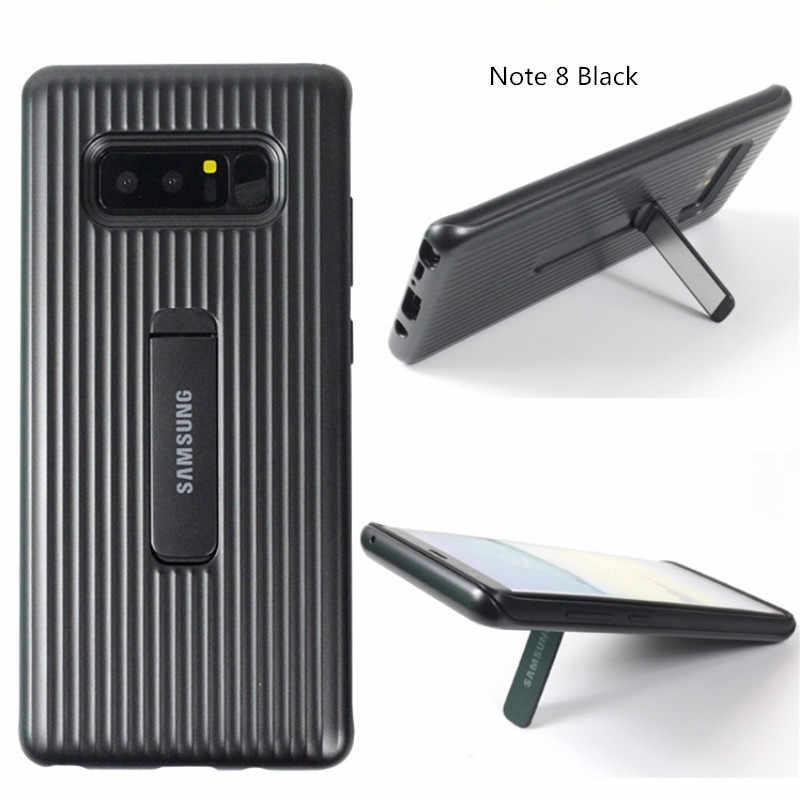 Оригинальный samsung Galaxy Note 8 может служить в качестве постоянного защитный чехол откидная ножка; мобильный телефон задняя держатель полный защитный плотный чехол 6,3''