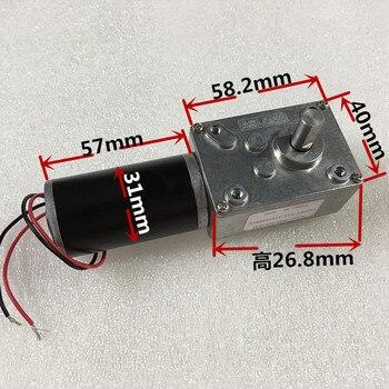 A58SW31ZY de gusano desaceleración 12 V 24 V Motor de engranaje con función de bloqueo y de inversión para la apertura de mini polipasto