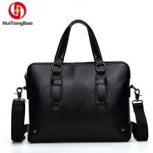 купить Men's Bag Business Casual Handbag Shoulder Messenger Bag Briefcase Retro Crossbody Bags for Man Leather High Quality In Stock онлайн