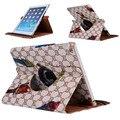 "Мода Модели 360 Вращающийся Case Cover for ipad 2/3/4 Luxury Стенд Крышка Tablet Смарт Case 9.7 ""для iPad 2 Новый iPad 3 iPad 4"