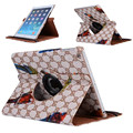 "Fashion Patterns 360 Rotating Case Cover for iPad 2 3 4 Luxury Stand Cover Tablet Smart Case 9.7"" for iPad 2 New iPad 3 iPad 4"