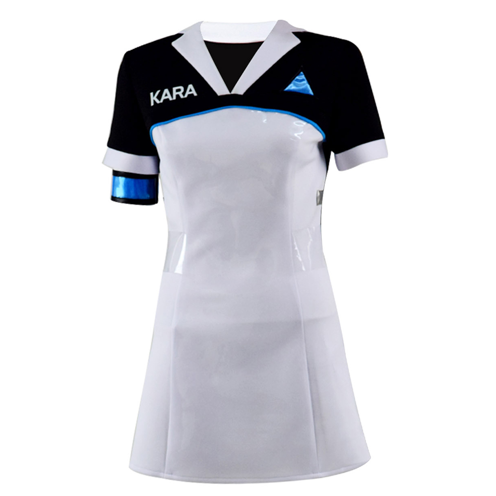 Detroit Kara Cosplay Costume Women Cosplay Dress Halloween Cosplay Full Set