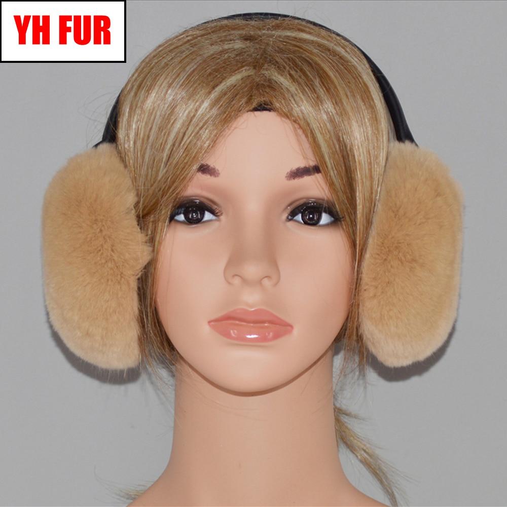 Men//Women 100/% Real Rabbit Fur Earmuffs Cover Wrap Winter Outdoor Fashion Soft