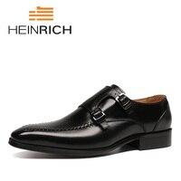 Генрих 2018 новый список Роскошная брендовая мужская обувь из натуральной кожи Double Monk удобная мужская обувь нетте heren schoenen