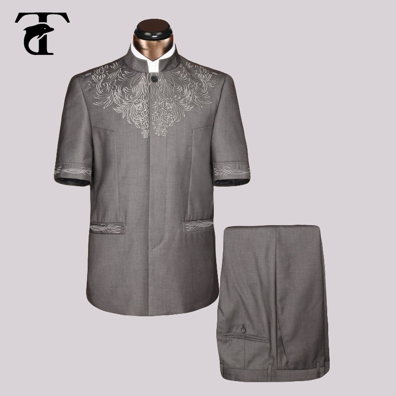 2016 Sommer Kurzarm Blazer Jacke Großhandel Kleidung Blazer Männer Mode Neue Casual Blazer Safari Anzug Jaqueta Masculina