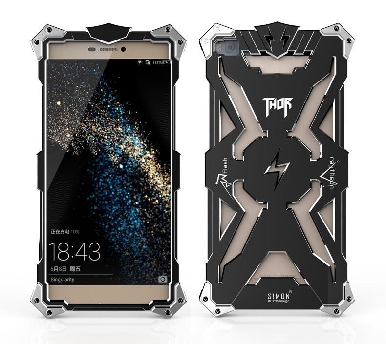 Цена за Новый Роскошный Противоударный Металл Алюминий Case для Huawei P8 P8 Lite Броня Тор Ironman Авиации Распространяется на Случаи