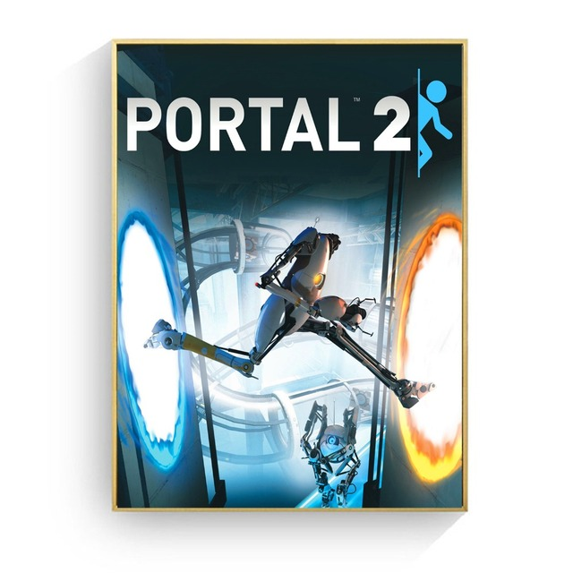 Portal 2 Game Style Vintage Canvas Art Print Painting Poster Wall Pictures For Living Room Home Decoration Decor No Frame