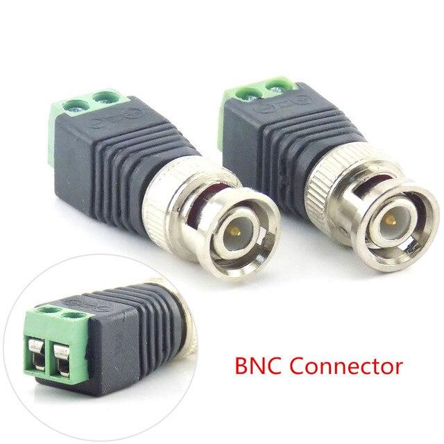 2/5/10 sztuk 12V DC BNC mężczyzna kobieta złącze Coax CAT5 wideo Balun Adapter wtyczka do taśmy Led światła akcesoria kamery CCTV