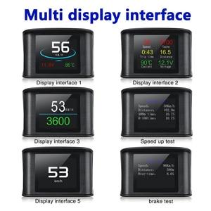 Image 2 - WiiYii OBD2 HUD P10รถHead Up Display OBD Digitalอุณหภูมิวัดความเร็วเมตรเครื่องยนต์Coolantอุณหภูมินาฬิกาปลุก