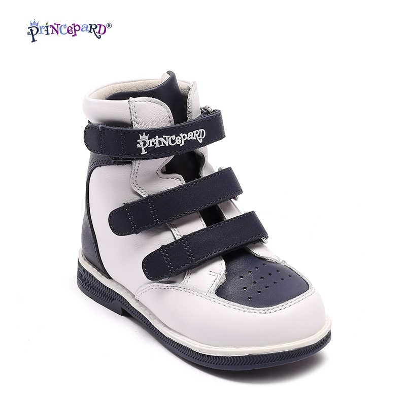 9cd85f9ca Princepard Десткие ортопедические кроссовки для детей из натуральной кожи.синие  и розавые цвет для мальчек