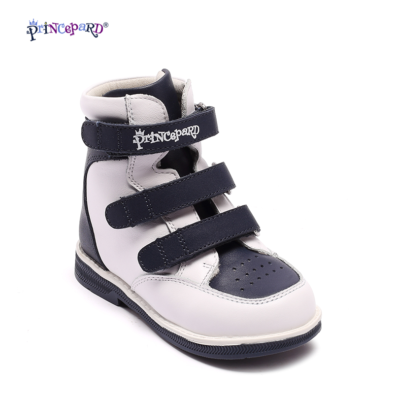 цены Princepard Genuine Leather Boys Girls Orthopedic Footwears include Orthotic Arch Support Flat Foot kids shoes baby shoes