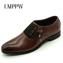 New 2017 Men Business Dress Shoes Fashion Genuine Leather Oxfords Breathable Casual Italian Design Moccasins Flats 2A
