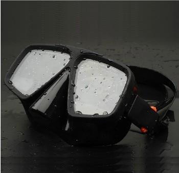 Free Shipping Snorkeling Sambo Silicone  black Diving Mask Full Dry Breathing Tube + Snorkel