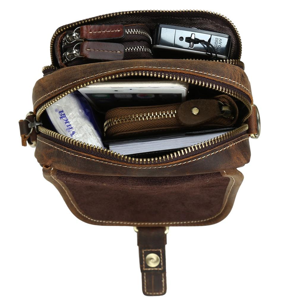 6a68da6a57c 2018 Fashion Brand Vintage Genuine Cow Leather Messenger Crossbody Bag Men  Designer Satchel for Cell Phone Mini Shoulder Bag on Aliexpress.com    Alibaba ...