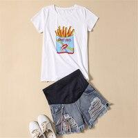 Mutterschaft Kleidung Für Schwangere Schwangerschaft Frauen Kleidung Für Stillende Mütter T-shirt Gestante Stillen Tops 70Z1021