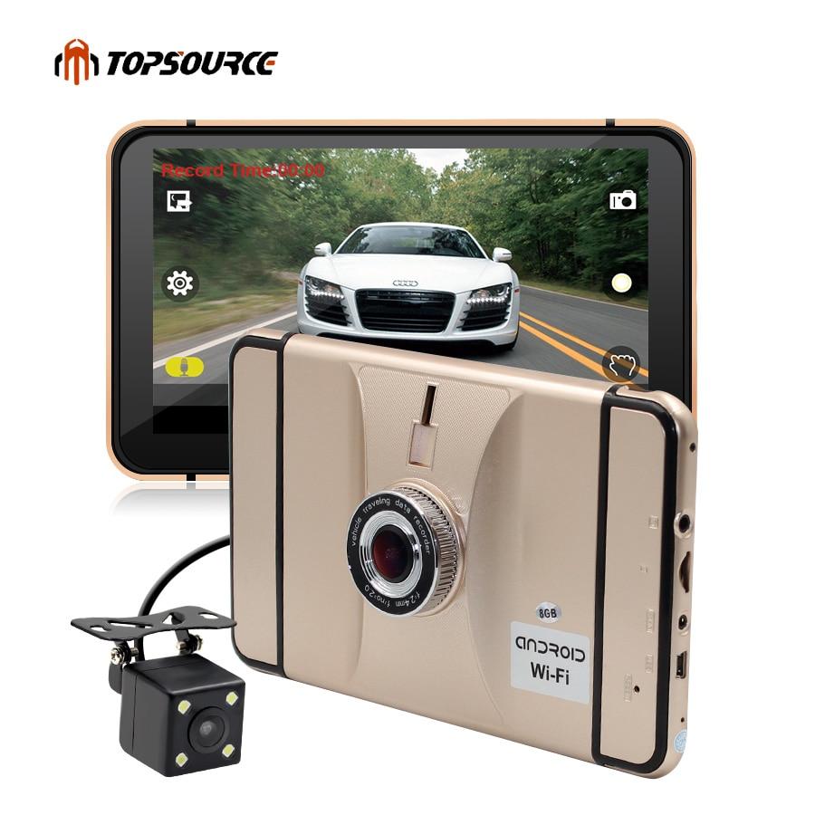 TOPSOURCE 7 Android Voiture Navigation GPS Navigator 8 gb avec vue Arrière caméra dvr Véhicule gps Quad-core bluetooth AVIN sat nav