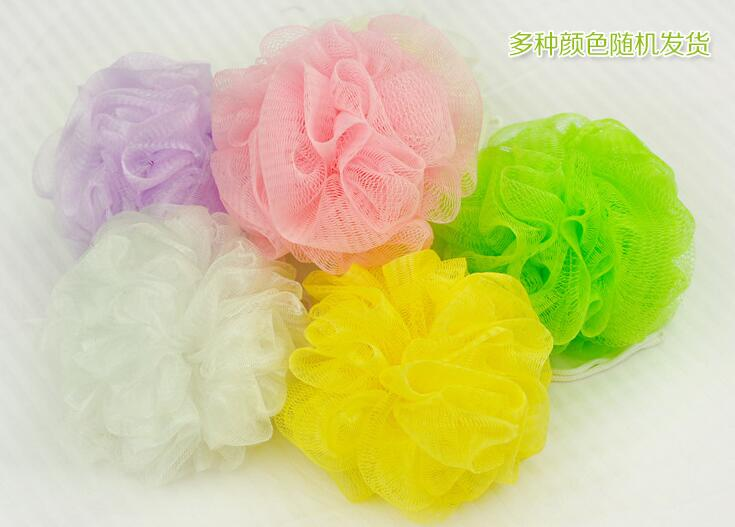 1/pcs 2017 Special Offer Loofah Flower Bath Ball Bath Tubs Cleaning Mesh Shower Wash Nylon Random Color