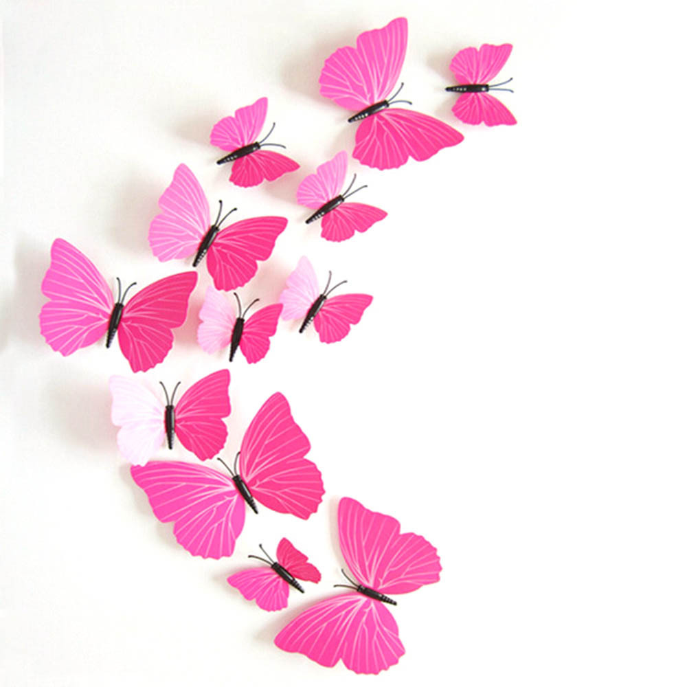 Hot Sales Retail Wholesale 2 Models 12pcs 3D Butterfly Decal Wall Stickers Home Room Curtain Decoration