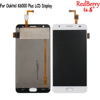 Redberry For Oukitel K6000 Plus LCD Display Mobile Phone Touch Screen Digitizer Assembly Replacement Parts With