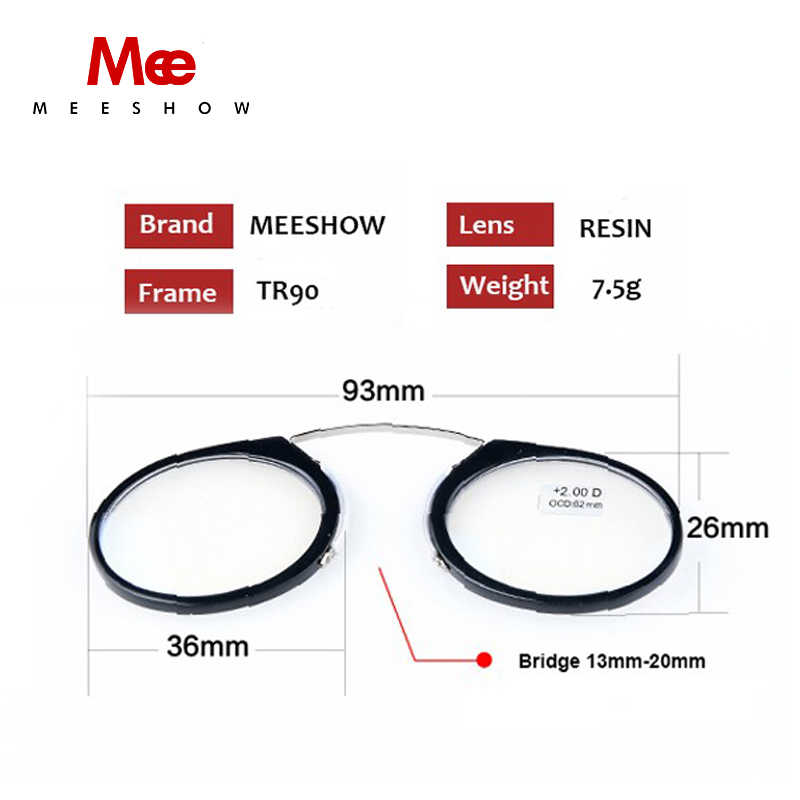 Nueva llegada gafas de lectura Clips para la nariz + 1,0 a + 3,5 lector portátil de cartera SOS con funda Dropshipping Lesebrillen 6105