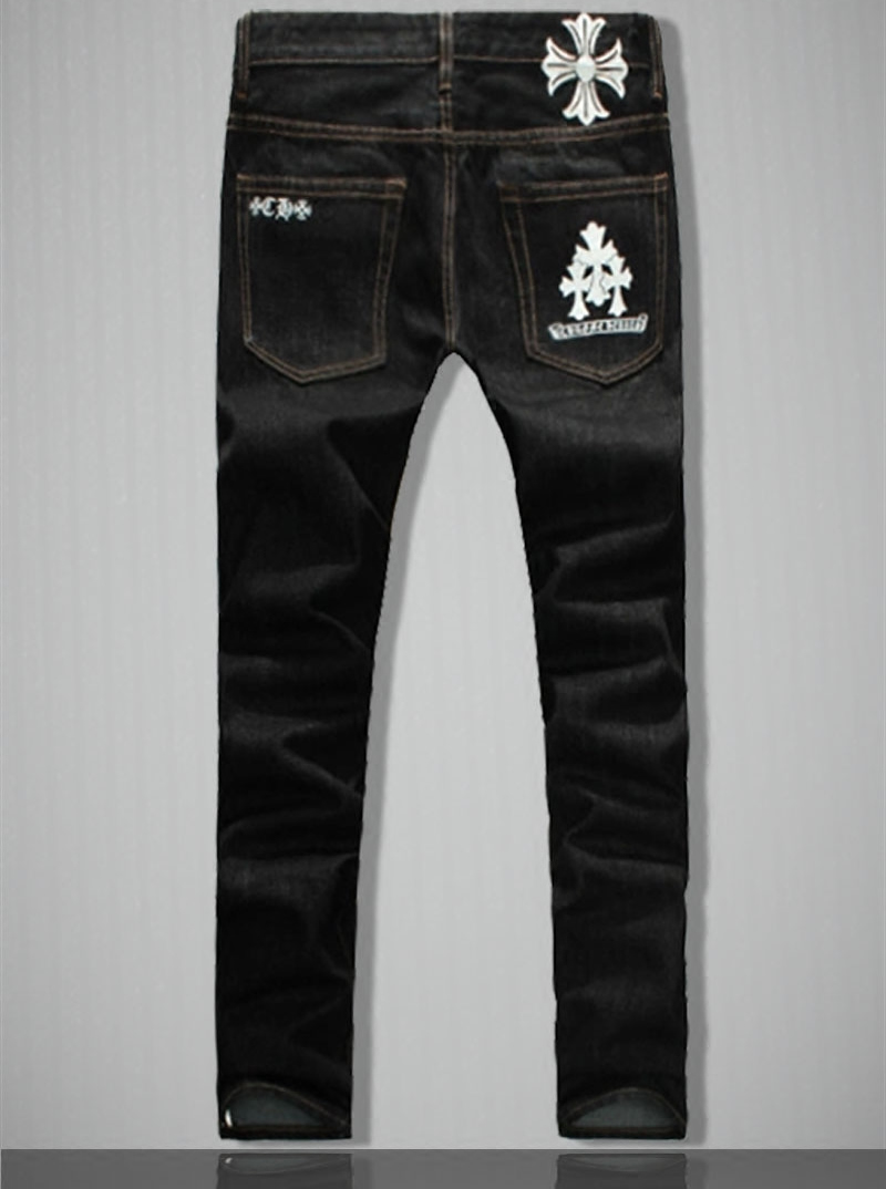 Fashion New Man Print Black Loose Casual Jeans