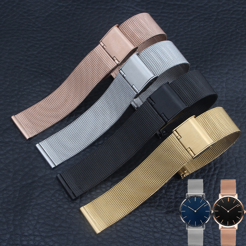 High Quality Milanese Strap Stainless Steel Watchband 14mm 20mm Men Women for Pebble Time Round Smart Quartz Watch+TOOL high quality lowest price wholesale kz 19 pneumatic combination steel metal strapping packing machine for 19mm steel strap tape