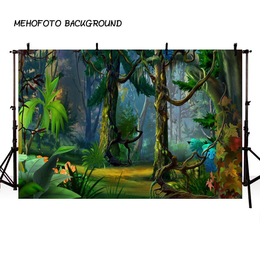 Vinyl Background Jungle Safari Party Magic Forest Decor