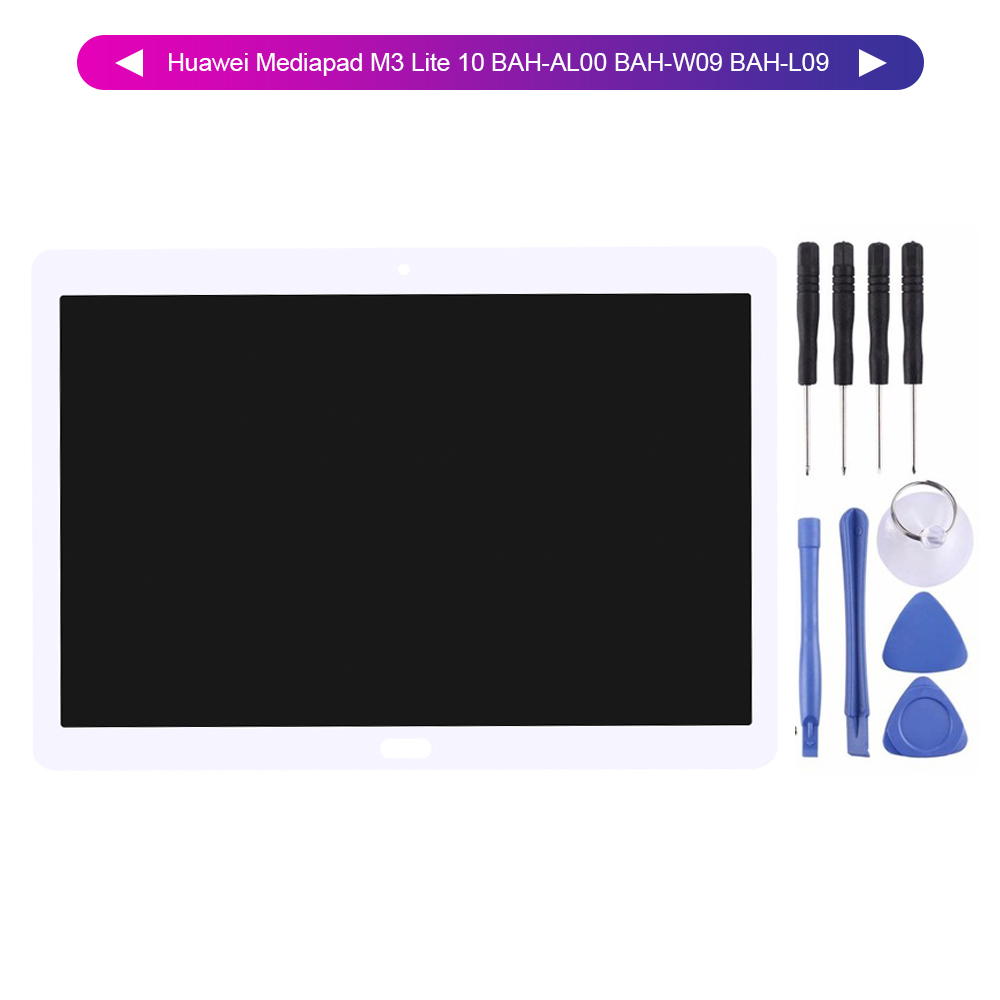 For Huawei Mediapad M3 Lite 10.1'' BAH-AL00 BAH-W09 BAH-L09 LCD Display Digitizer Screen Touch Panel Sensor Assembly