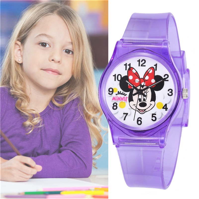 TMC#466 New Stylish Multi Colors Mickey Mouse Cute Watch Silicone Strap Analog Quartz Clock For Girls Kids Hot Montre Enfant