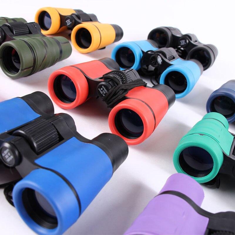 Binoculares de goma telescópicos 4x30 para niños, modelo de tecnología de aprendizaje al aire libre, juguetes creativos coloridos, regalos
