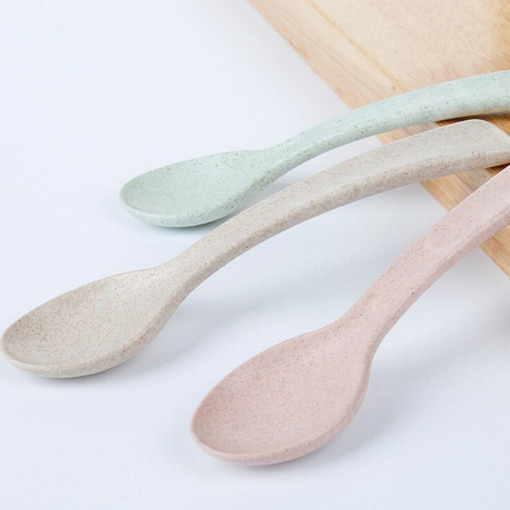 Детская Ложка для кормления, детская посуда, столовая посуда для детского питания, ложка для супа, антигорячая посуда, 3 цвета, столовые приб...