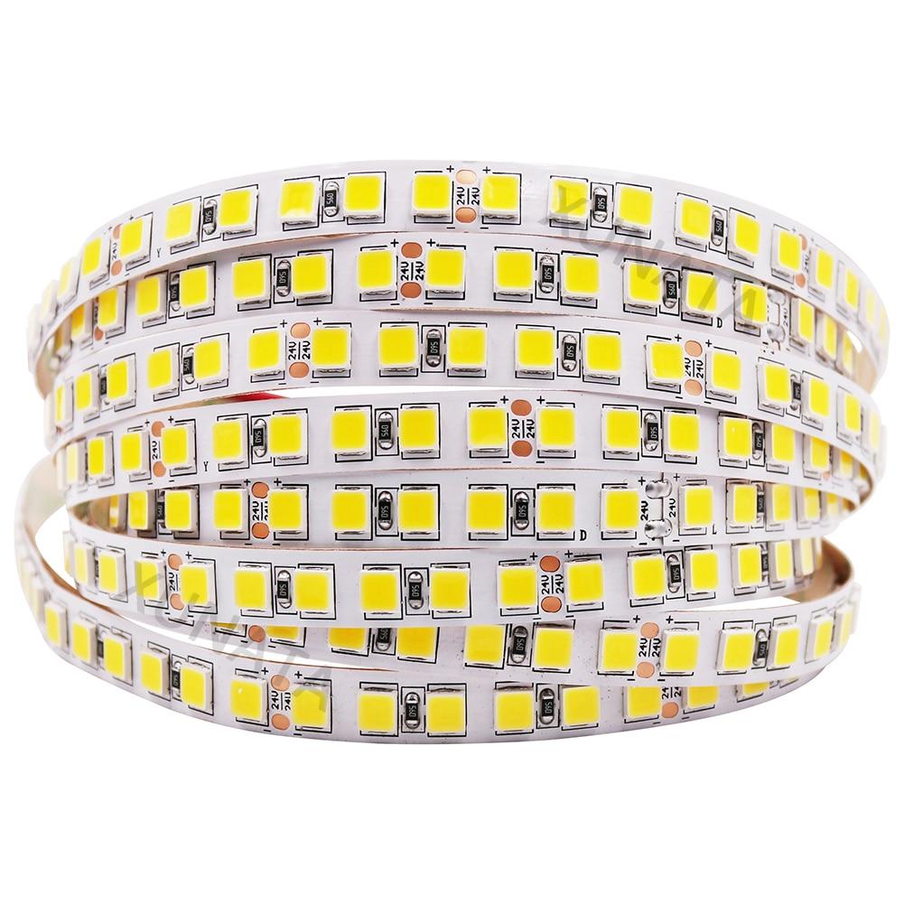 RAZEND 12 V 24 V 5054 LED 5 M 120 LEDs/M impermeable 600 Led blanco cálido de LED Flexible cinta más brillante 5050, 5630