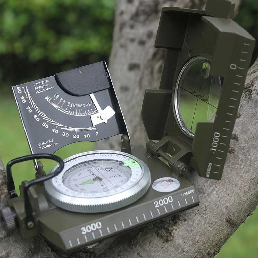 bussola profissional ao ar livre avistamento de metal bussola luminosa clinometer campismo ed shipping