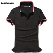 Mountainskin 2018 Summer New Men's Polo Shirts Short -Sleeve Classic Solid Cotton Polo Shirts Casual Soft Brand Polos,EDA344