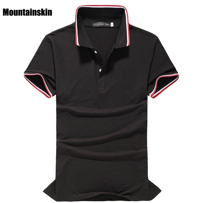 Mountainskin 2018 Verão Nova dos homens Camisas Polo Curto-Manga Sólida  Clássico Polo Camisas de Algodão Macio Casual Polos Da Marca 0bbb8f442b9f1
