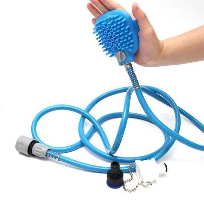 Neue Pet Bade Werkzeug Komfortable Massager Dusche Werkzeug Reinigung Waschen Bad Spritzen Hundebürste Tierbedarf Großhandel
