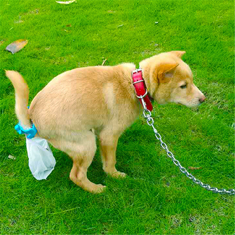 Portable Goods for Pets Waste Poop Bag With Tail Clip Dogs Toilets Holder with 20Pcs Garbage Bags Dog Cat Cleaning Tool Supplies 3