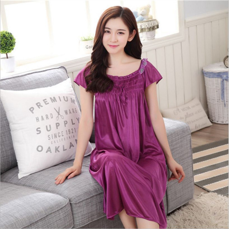 Latest Women sexy wearing loose Siamese Skirt sweet Girl Ice silk Nightdress Comfortable Indoor Clothing Home Suit Sleepwear