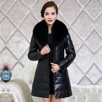 Winter Genuine Leather Jacket Women Sheepskin Coat Real Fox Fur Collar Plus Size Warm Women's Jackets Chaquetas Mujer 6805 YY381