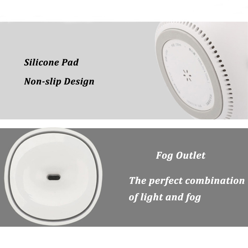 Image 5 - 120ML USB Mini Air Humidifier Ultrasonic Essential Oil Aroma Diffuser for Xiaomi Youpin Mute LED Light Mist Maker for Home-in Humidifiers from Home Appliances