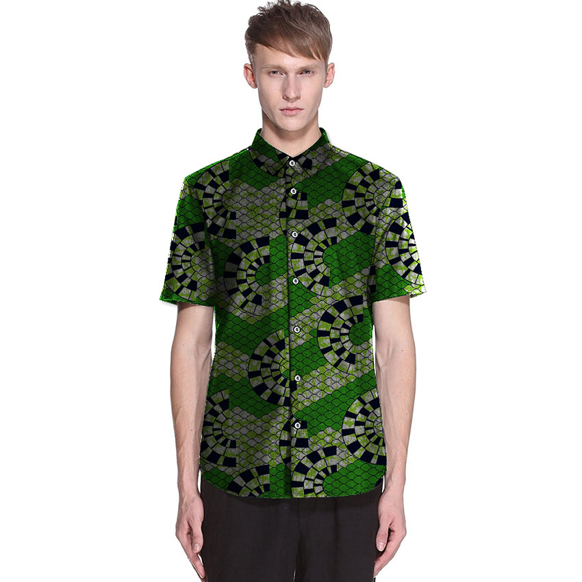 Men's African Dress Shirts African Ankara Shirts For Fen Lon